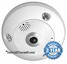 Hikvision OEM 3 Megapixel Fisheye IP CCTV Security Camera - DefendItYourself.com IP Camera