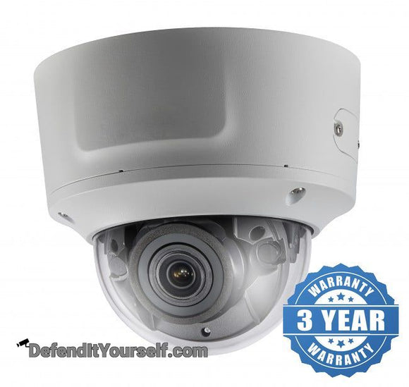 Hikvision OEM 4K / 8 MP Vandal Proof Dome 2.8mm-12mm Varifocal IP CCTV Security Camera - DefendItYourself.com IP Camera