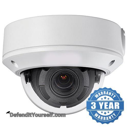 Hikvision OEM 4 Megapixel 2.8mm-12mm Varifocal Vandal Proof Dome IP Security Camera - DefendItYourself.com IP Camera