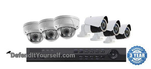 Hikvision OEM 8 Channel NVR 6 IP Security Camera PoE Kit with 4MP Domes or Bullets - DefendItYourself.com Kit