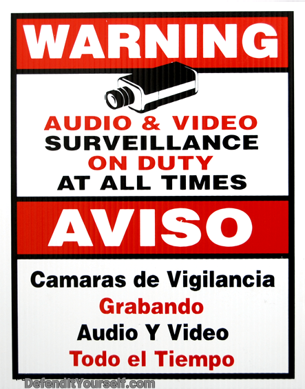 Warning Surveillance Sign 11