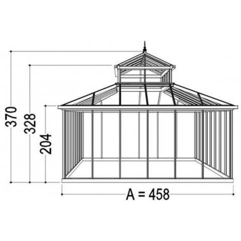 Exaco Cathedral Victorian Greenhouse with Large Cupola