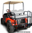 Rear Flip Seat Kit EzGo TXT