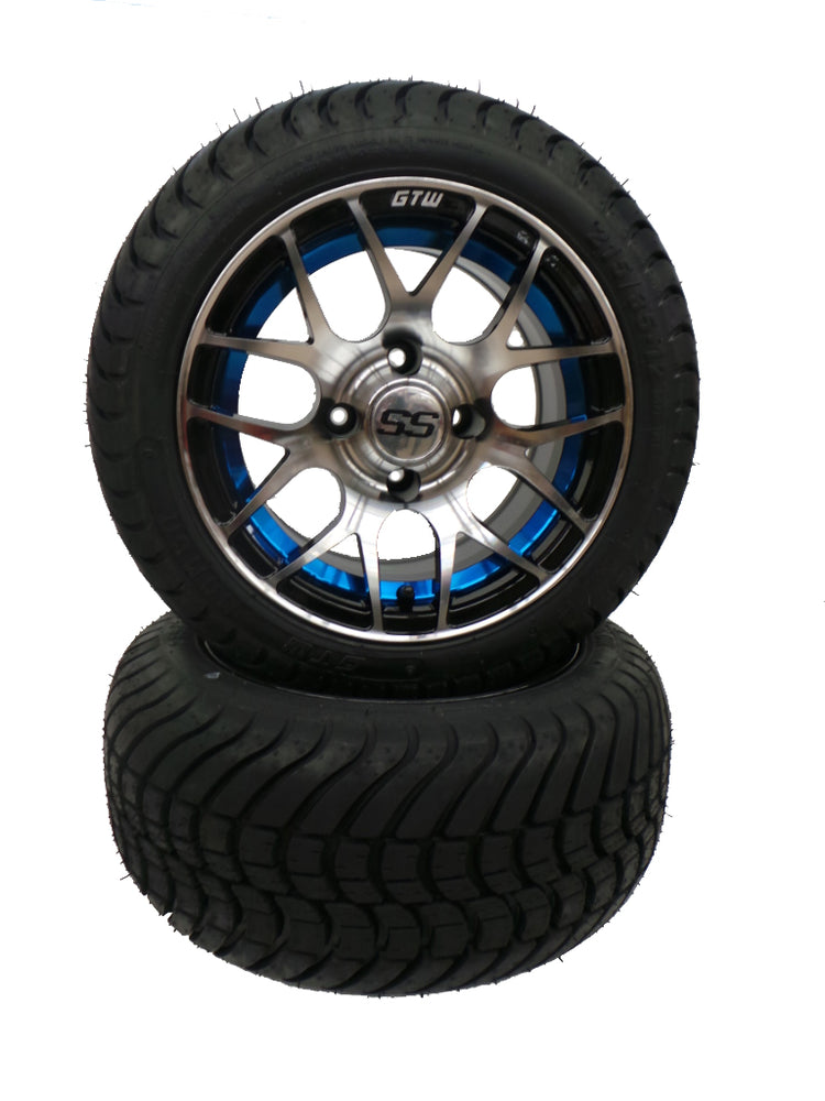"Set of (4) 12"" Blue Pursuit on Cobra Street Tire"