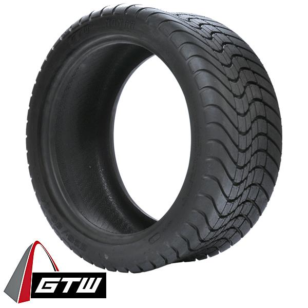 "Set of (4) 12"" GTW Spyder Red/Black on Low-Pro Mamba Street Tire"