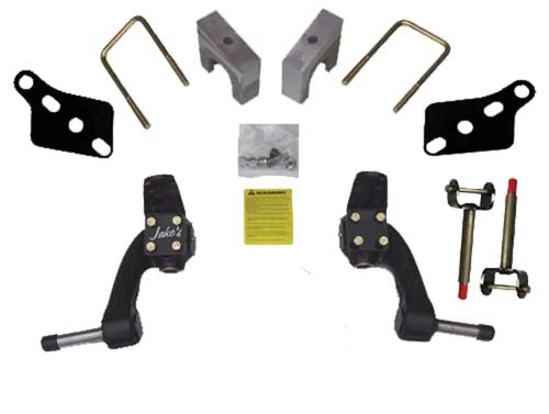 "JAKE'S 6"" Drop Spindle Lift Kit for Club Car Precedent 2004+ Gas or Electric"