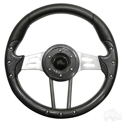 Aviator 4 Carbon Fiber/Aluminum Grip Steering wheel / Adapter Package