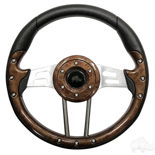Aviator 4 Woodgrain Steering wheel / Adapter Package