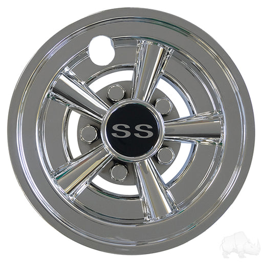 "Set of 4 Wheel Cover, 8"" SS Chrome"