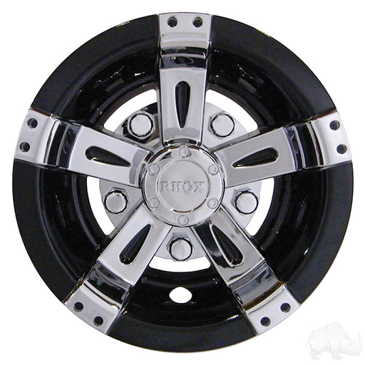 "Set of 4 Wheel Cover, 8"" Vegas Chrome/Black"
