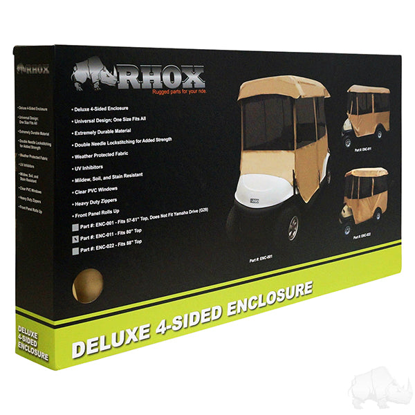 RHOX Driveable Enclosure, Deluxe 4-Sided, Tan