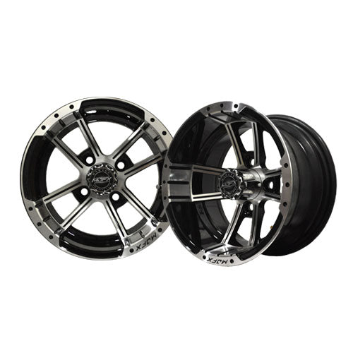 "Set of (4) 10"" MJFX APEX Machined Black on Mamba Low Pro"