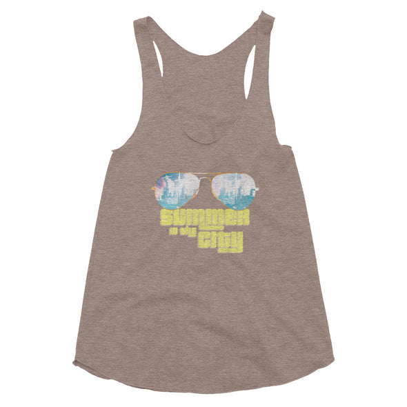Summer In the City Women's Tri-Blend Racerback Tank