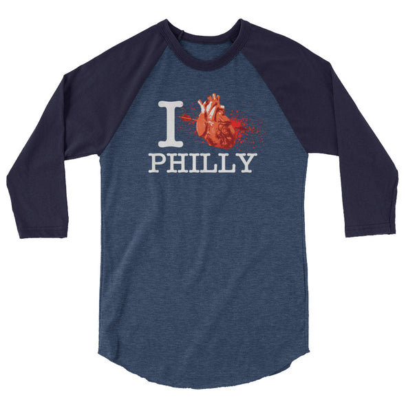 I Love Philly 3/4 Sleeve Raglan