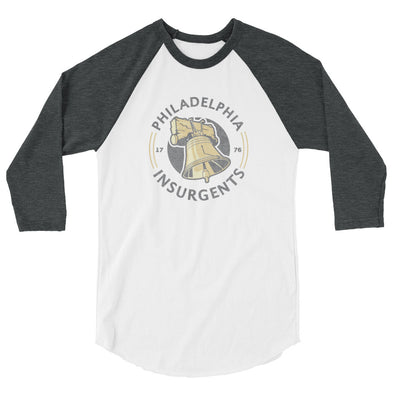 Philadelphia Insurgents 3/4 sleeve raglan shirt