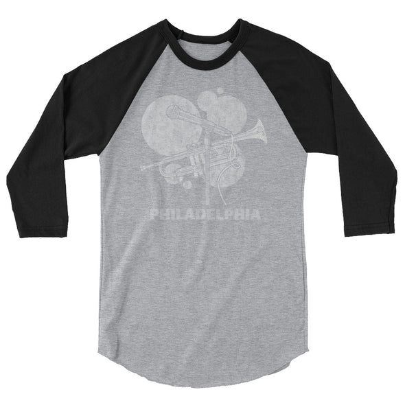 Philly Habit Music 3/4 sleeve raglan shirt