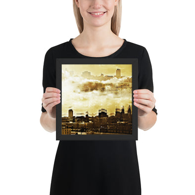 City In the Sky Framed Poster