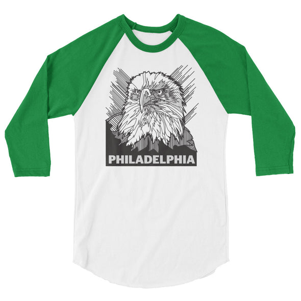 Philly Habit Eagle 3/4 sleeve raglan shirt