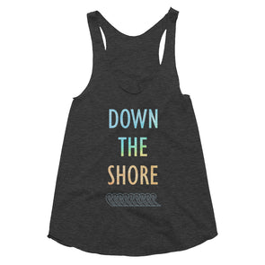 Down The Shore Women's Tri-Blend Racerback Tank
