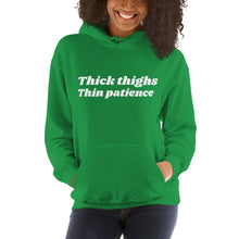 Load image into Gallery viewer, Thick thighs hooded Sweatshirt
