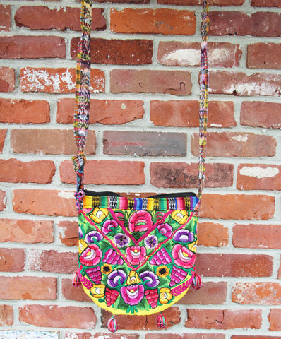 Pom Pom Shoulder Tie Bag