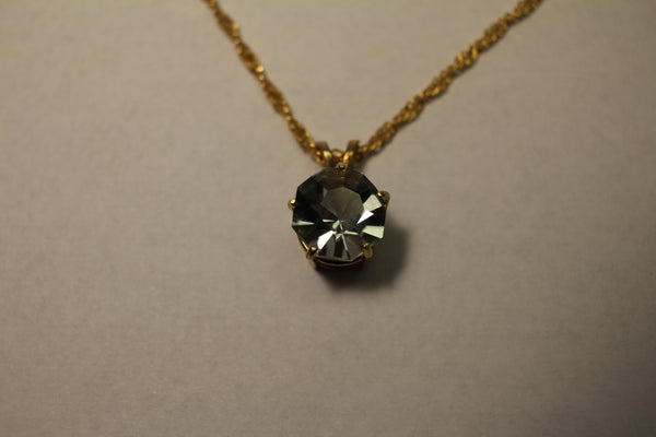 Crystal, 12mm Round Necklace