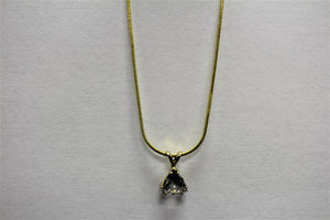 7mm Trillion Crystal Necklace