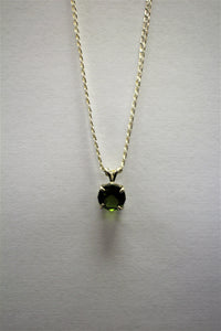 9mm Round Emerald Gem Necklace