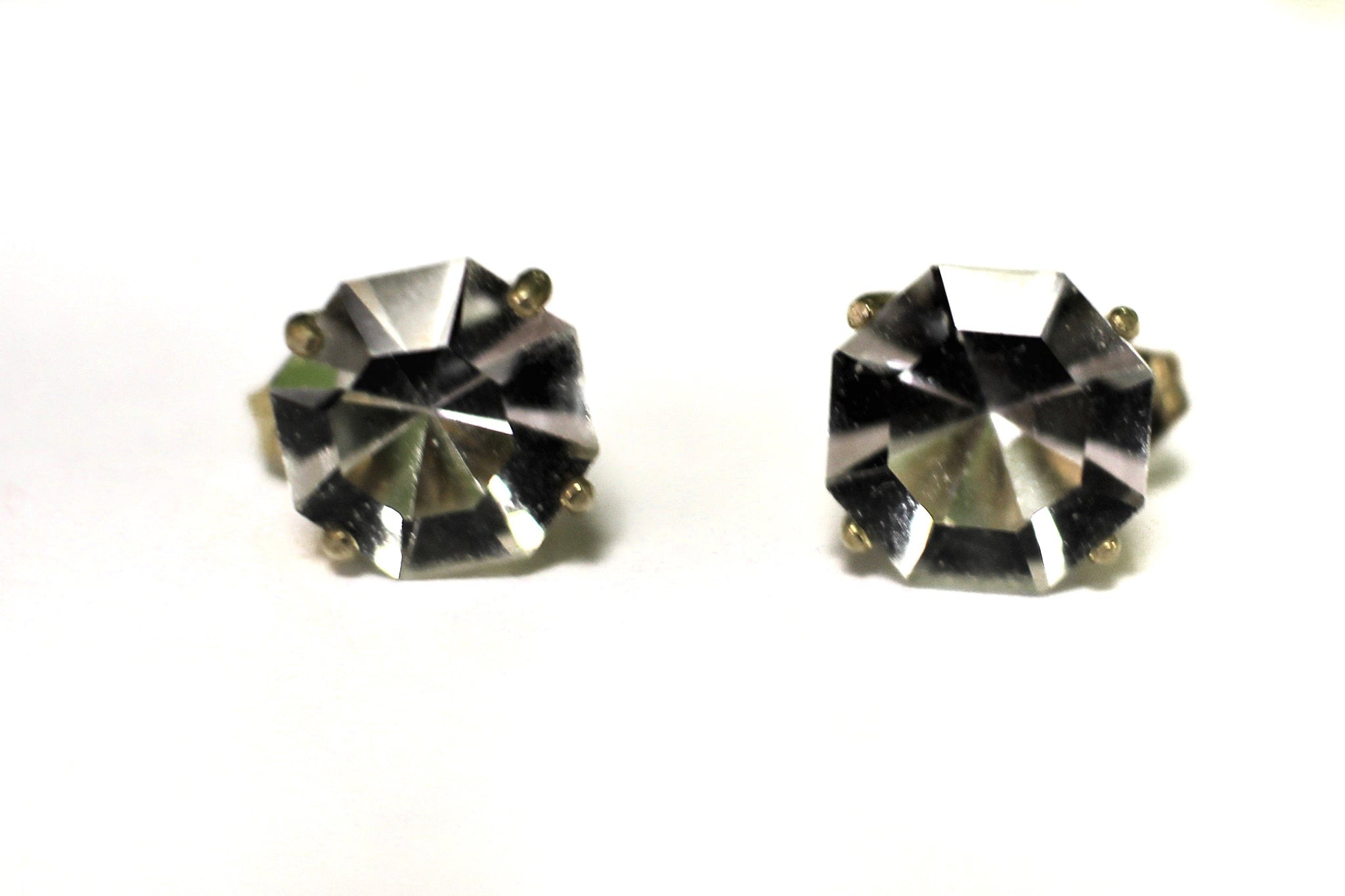 Crystal Studs, 9mm Round