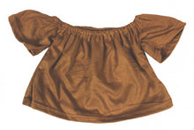 Load image into Gallery viewer, Suede off shoulder top - Camel