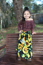 Load image into Gallery viewer, Sunflower maxi skirt