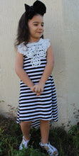 Load image into Gallery viewer, Black and white striped dress