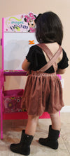 Load image into Gallery viewer, Velvet Bow Suspender Skirt - Brown