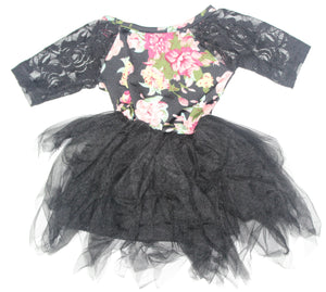 Jocelyn Dress - Black Floral
