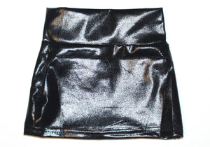Black Pleather Pencil Skirt