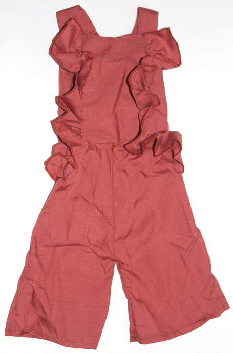 Ruffle Jumpsuit - Ginger