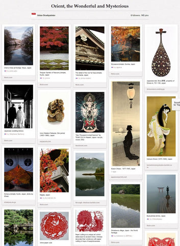 ab pinterest board Orient the Wonderful and Mysterious
