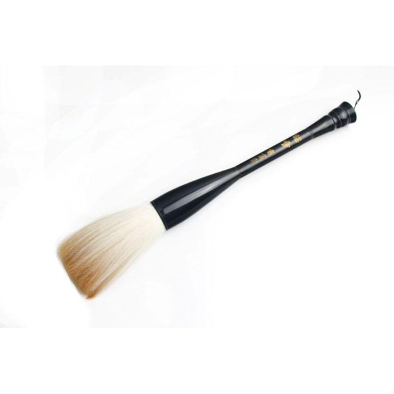 Chinese & Japanese big Kanji calligraphy writing brush with goat & horse hair & hand made horn handle.