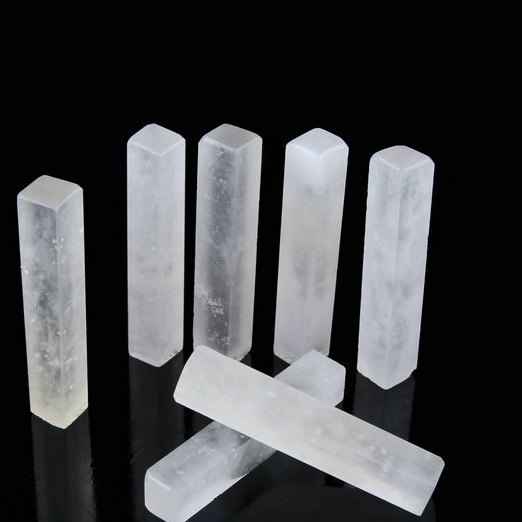 POPSICLE -  White Cuboid Shaped Oriental Signature Seal Stone
