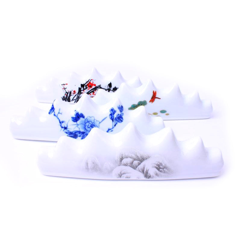 Chinese traditional porcelain brush rest printed on landscape