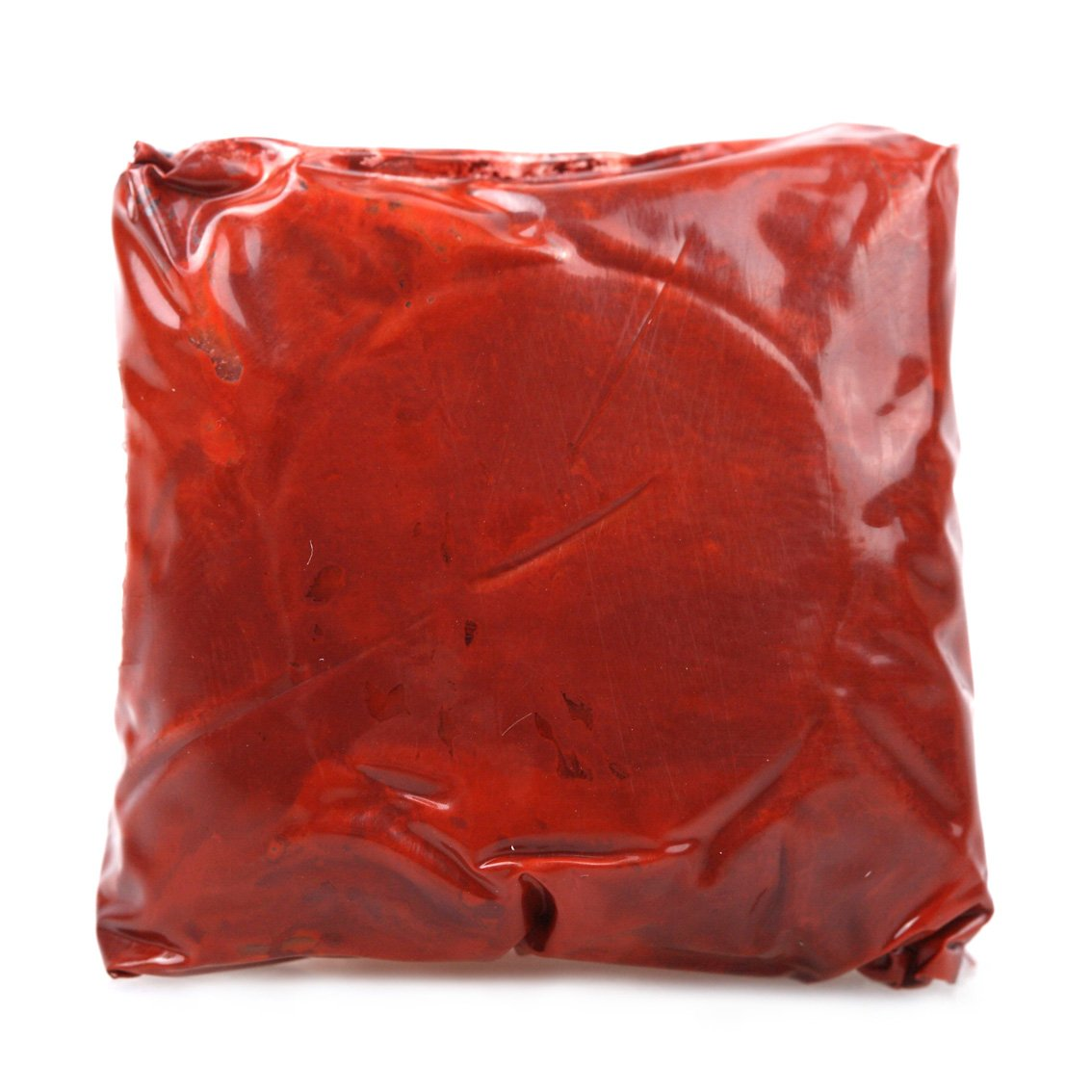 Special red Chinese seal paste in a traditional rare shade of red whith is a deep hue of red distinguishing it from standard red colored pastes.