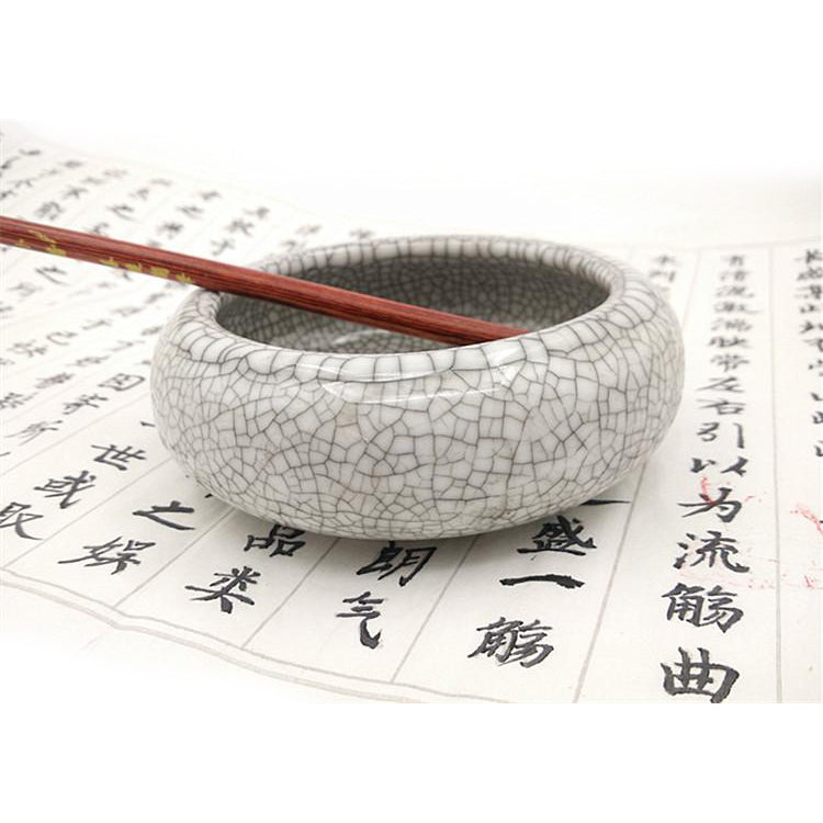 Add Water to Inkstone Inkwell Smooth Bowl Design for Chinese Calligraphy Practice Painting Drawing MEGREZ Multifunction Calligraphy Brush Wash Bowl Imitation Jade