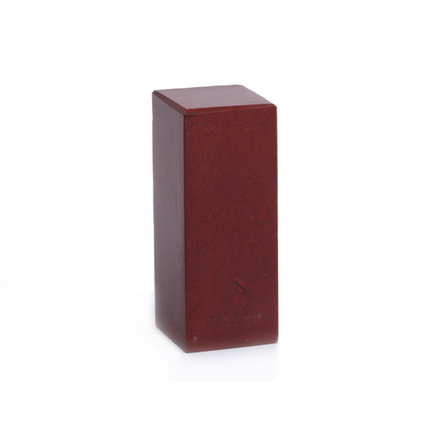 MOUNTAIN RED- Chinese Oriental Signature Seal Stone - Cuboid