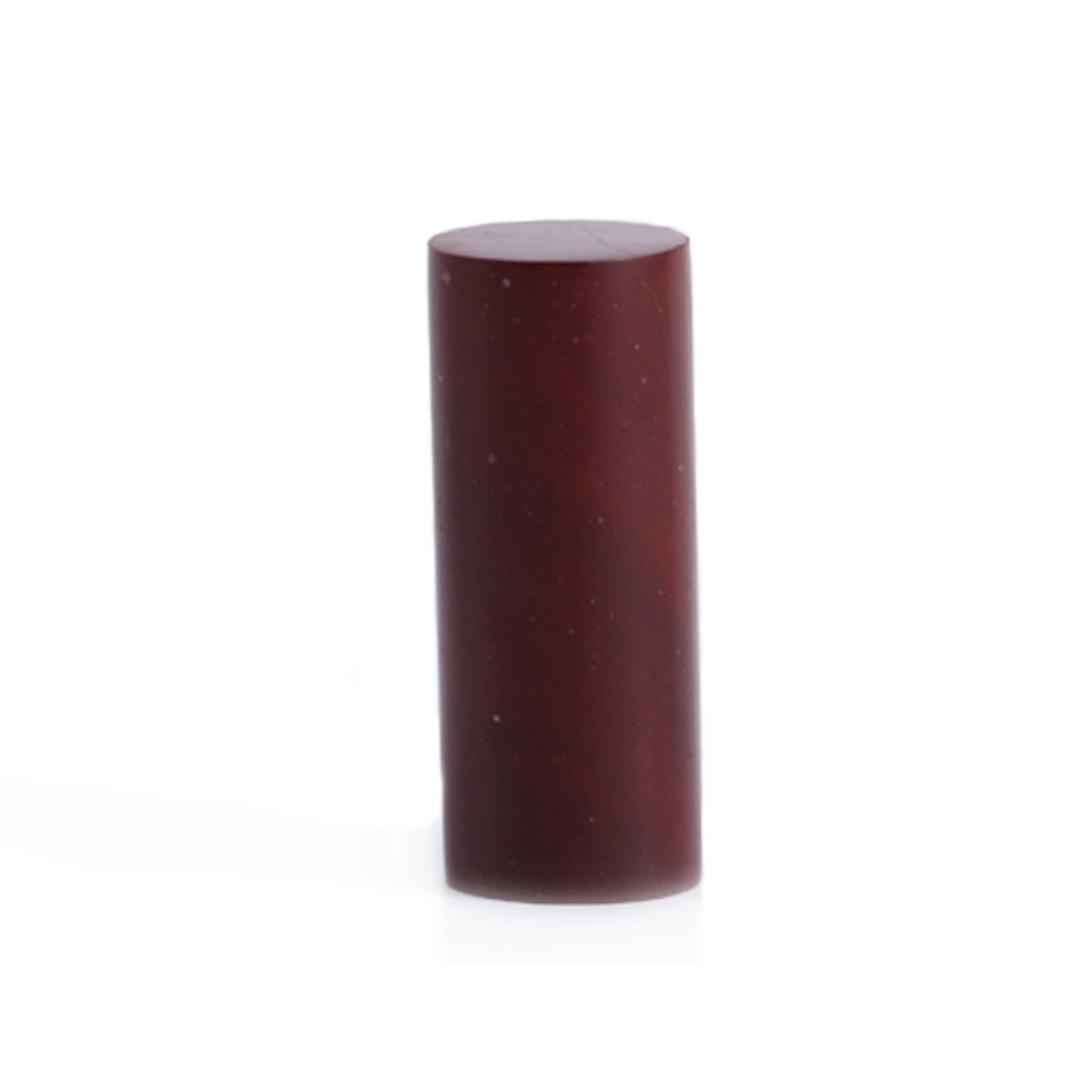 MOUNTAIN RED- Chinese Oriental Signature Seal Stone - Cylindrical