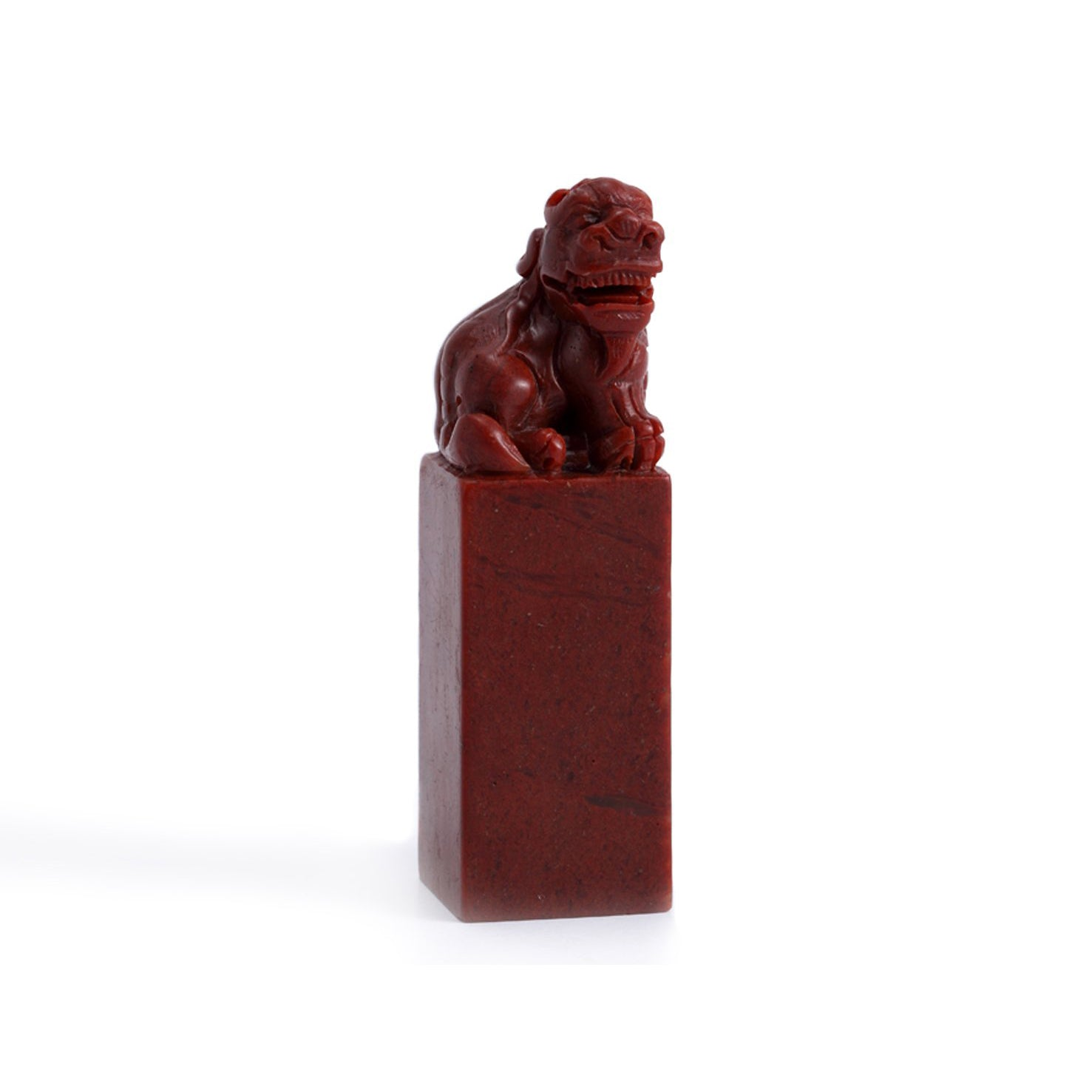 PIXIU HEAD MOUNTAIN RED - Collectors Seal Stone for Seal Carving