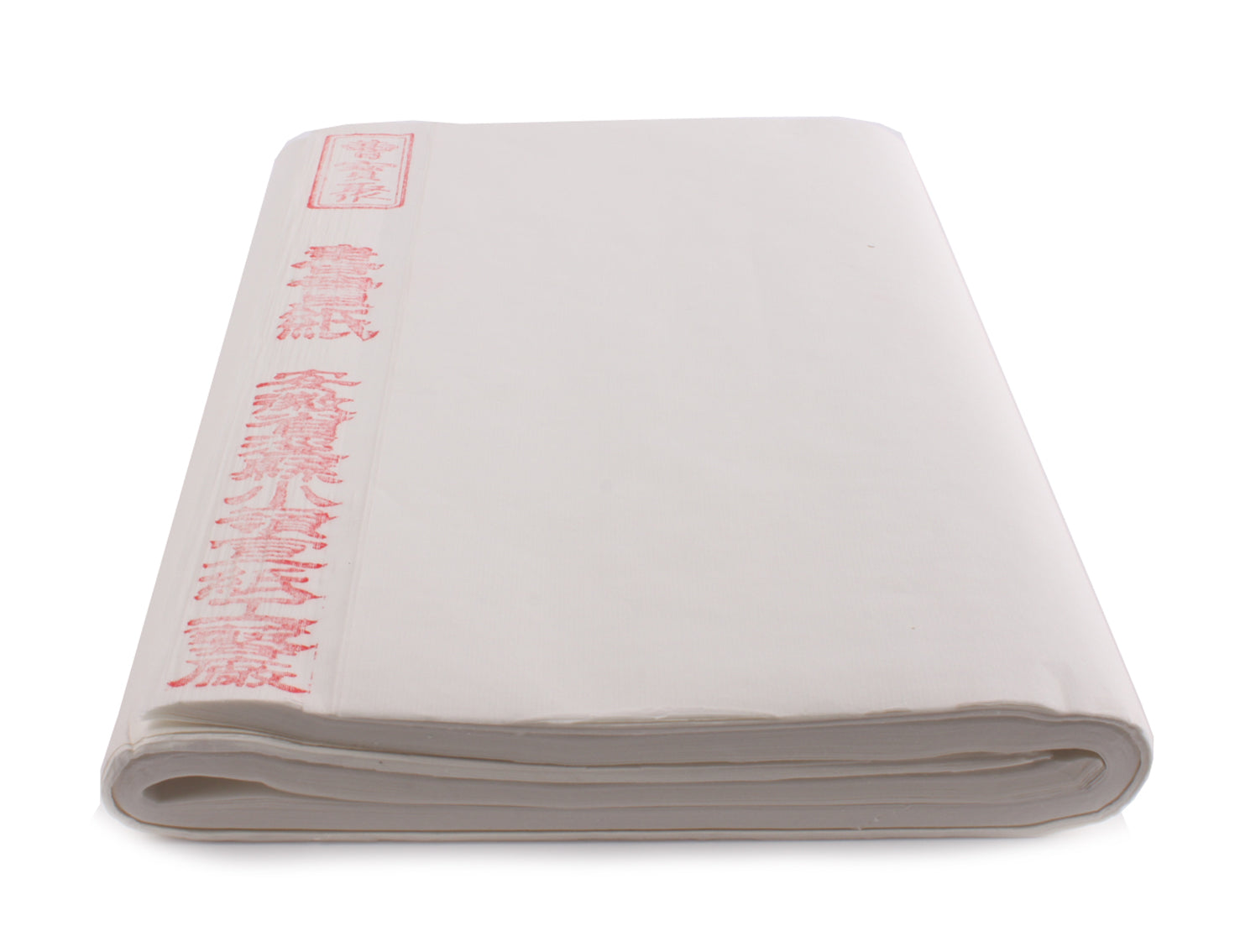 Anhui-made sized Chinese shuen or rice paper folded in a batch of hundred individual sheets with two folds - used for sumi painting or writing shodo calligraphy