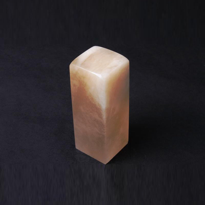 Hand carved Pixiu header Kunlun seal stone with natural crystal-pale yellow color for Chinese calligraphy artwork
