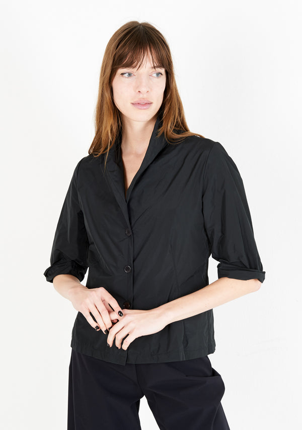 Blouse 33, half sleeve, black