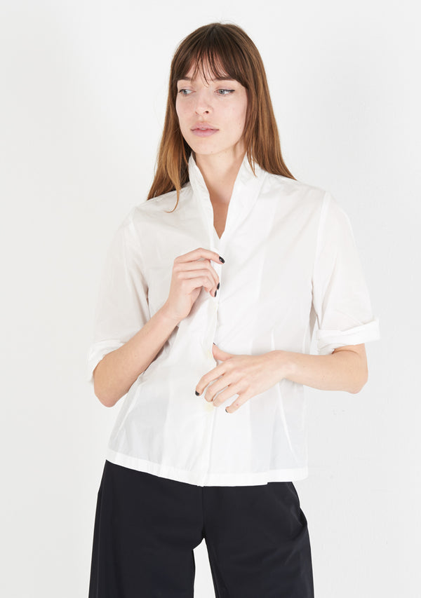 Blouse 33, half sleeve, white