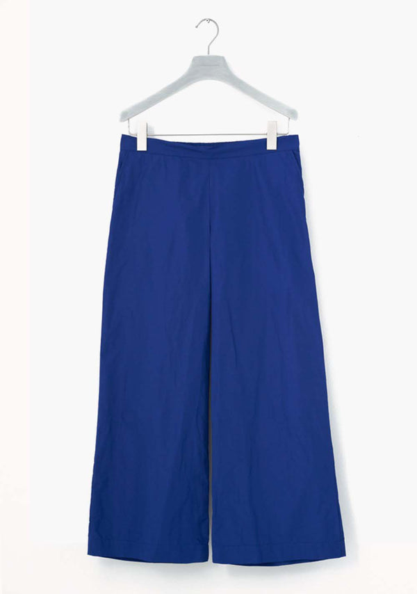 Pants wide, royal blue